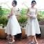 See-Through waist Slim Midi Dress thumbnail 1