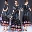 Printed Flora Dot Lace Waist Maxi Dress thumbnail 1