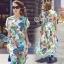 Bohemian Colorful Party V-Neck Wind Sleeve Midi Dress thumbnail 1