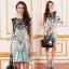 Paisley Mint Hola Sleeveless Jewelry Mini Dress thumbnail 1