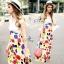 Lace Bust Colorful Polka Dot Maxi Dress thumbnail 1